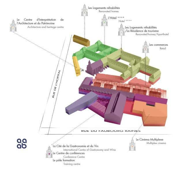 Plan de la Cité de la Gastronomie