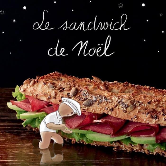 sandwich de Noël Paul