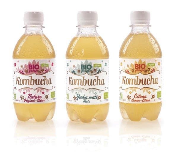 Des bouteilles de Kombucha