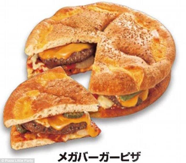 Pizza et hamburger sur une même recette