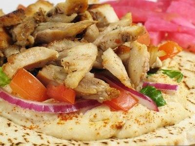 Kebab en sandwich
