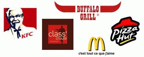 Logos de restaurants à service rapide