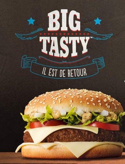 Affiche promotionnelle du Big Tasty