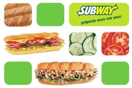 Sandwich chez Subway