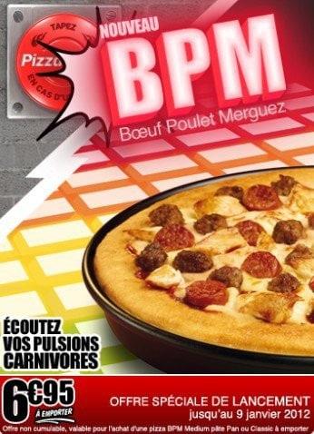 La pizza BPM imaginée par Pizza Hut