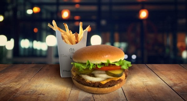 Le burger végétarien de Steak 'n Shake