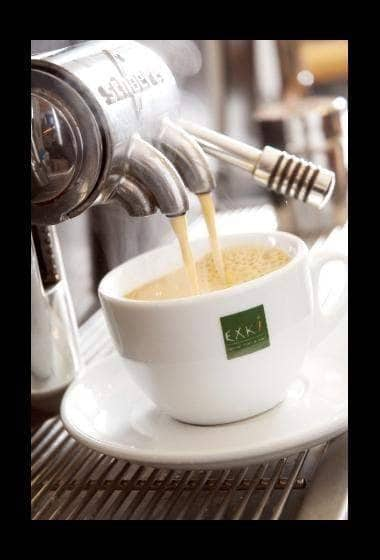 Préparation d'une tasse de café
