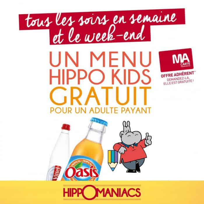 Menu Hippo Kids en promotion