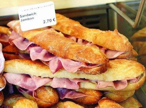 sandwicherie et jambon beurre