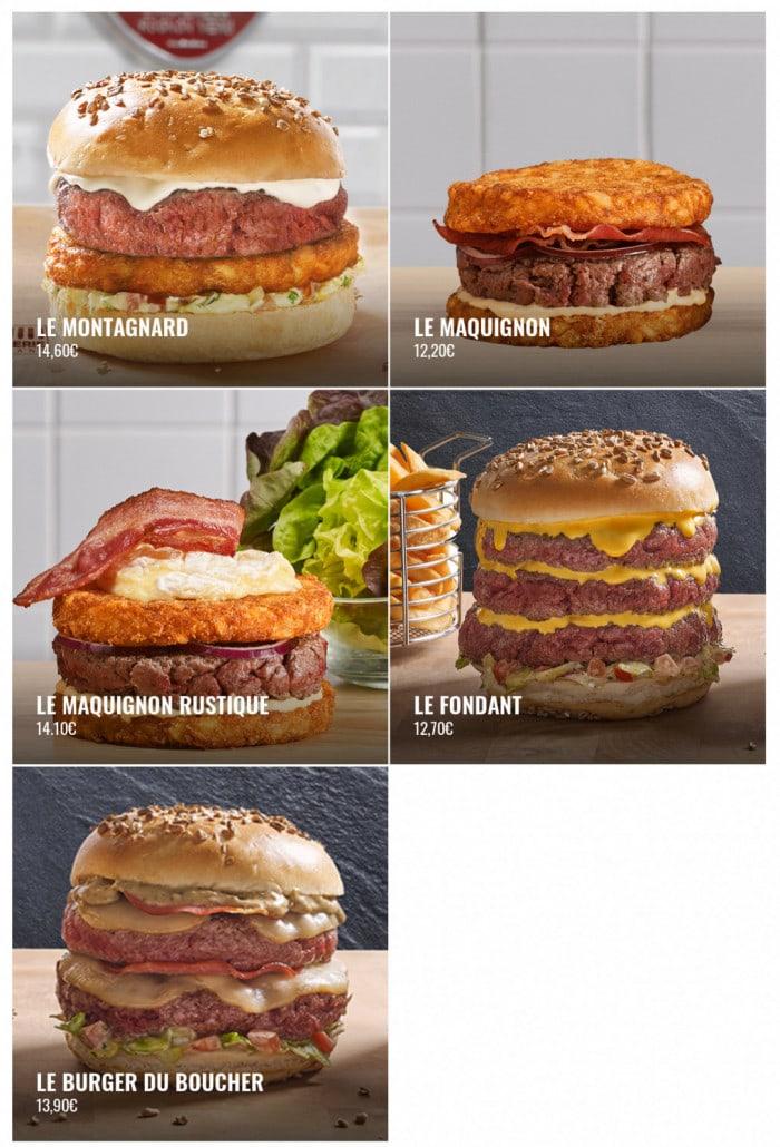Les 5 burgers