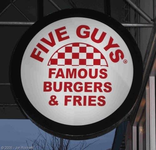 Enseigne Five Guy