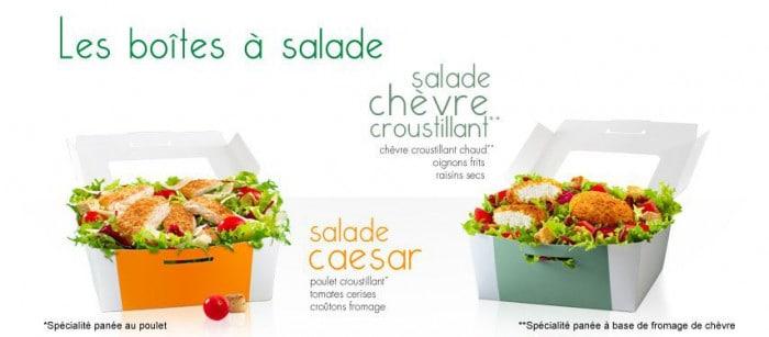 Boîtes à salade McDo