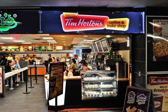 Point de vente Tim Horton's
