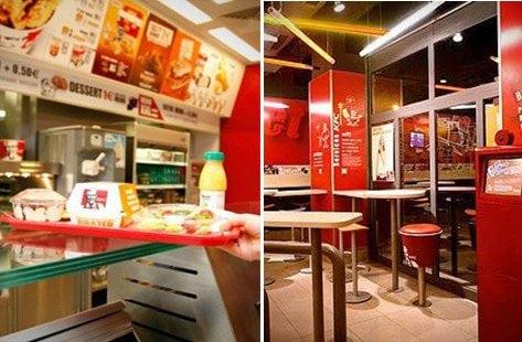 Salle de restauration en KFC à Paris