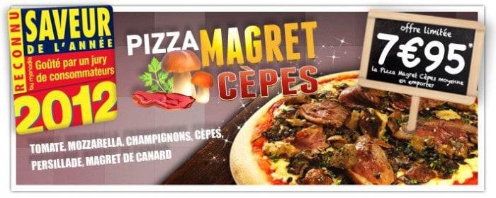 Pizza Magret Cèpes