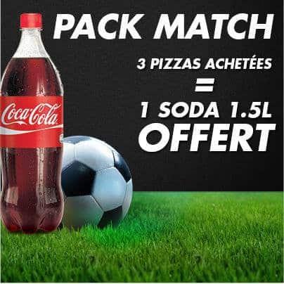 Pack Match chez Pizza Hut