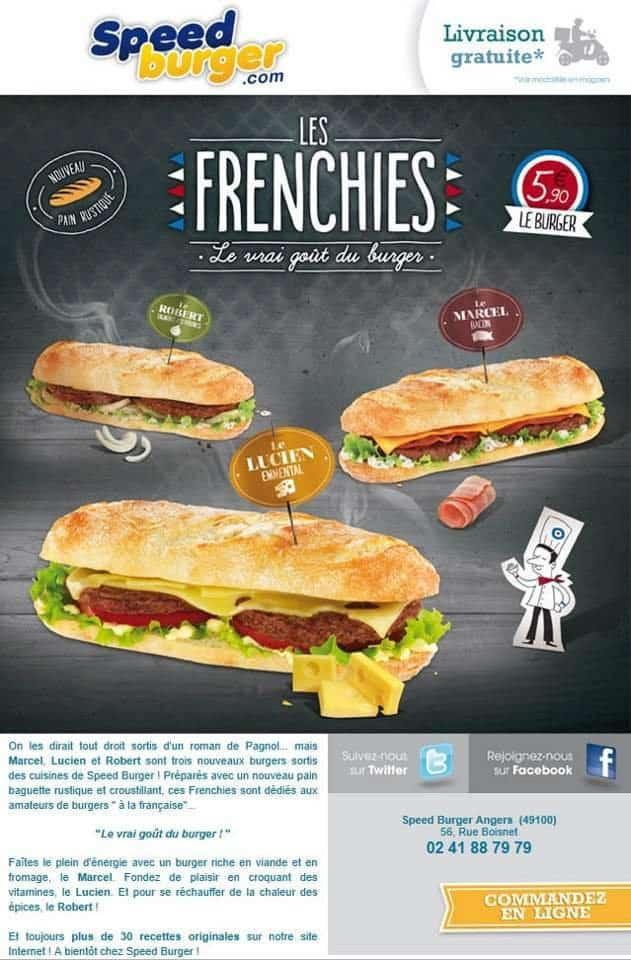 La gamme de sandwich Frenchies