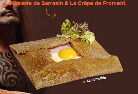 Crêpe salée de farine de sarrasin