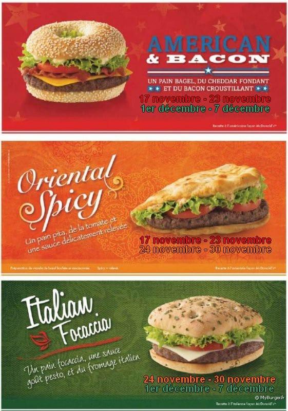 3 nouveaux sandwiches chez McDo