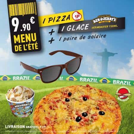 Menu et pizza de l'été