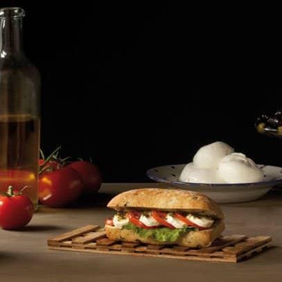 Inspiration italienne dans un sandwich végan
