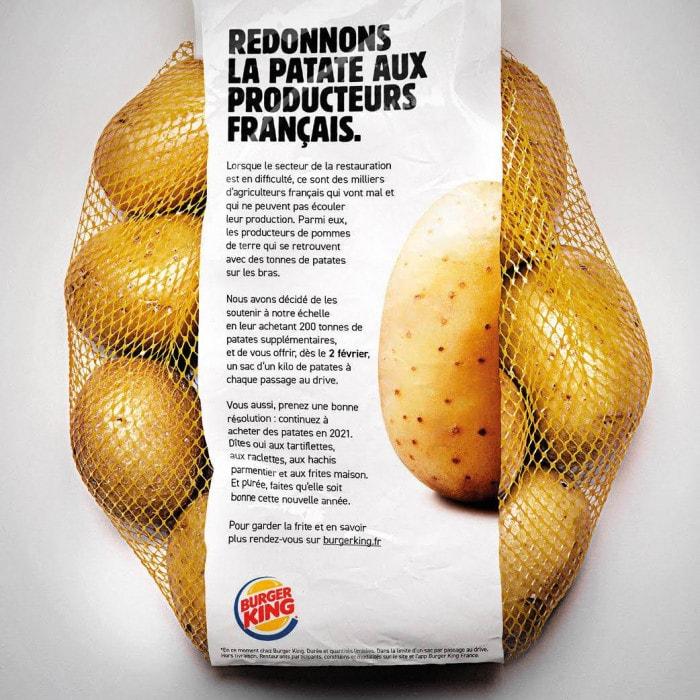 Soutien aux producteurs français de patates