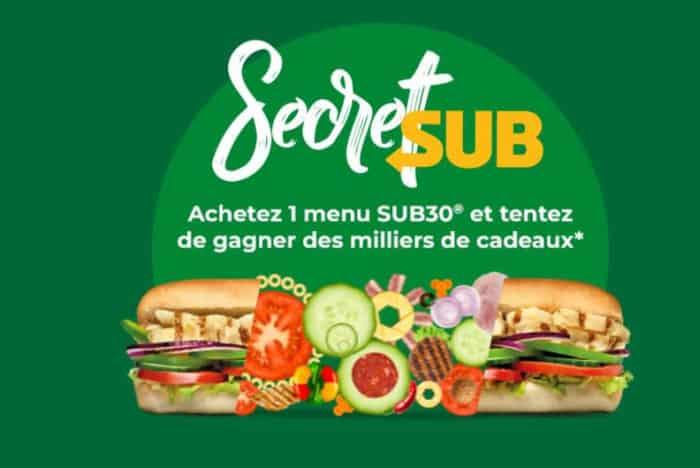 Concours Secret Sub