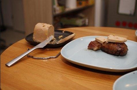 Foie gras sur magret de canard