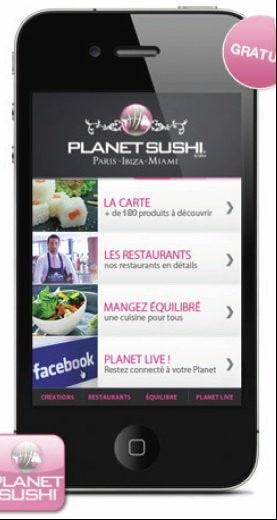 Planet Sushi sur smartphone