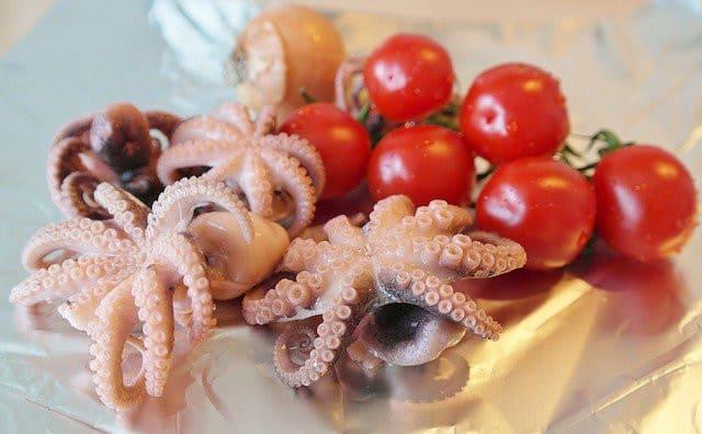Grillades de poulpes et calamars