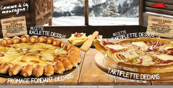 Pizzas Raclette et Tartiflette