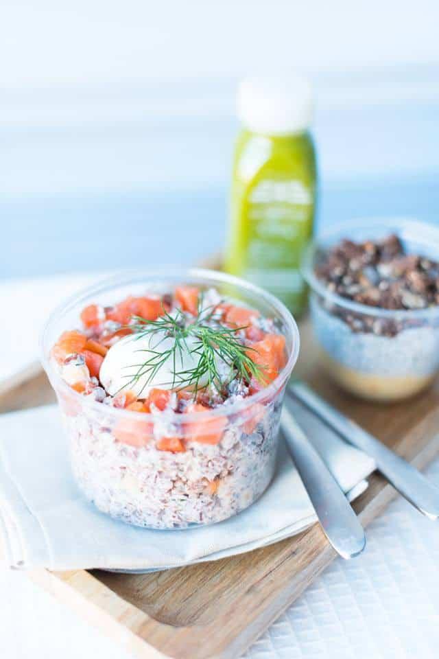 Salade de saumon fumé et œuf poché