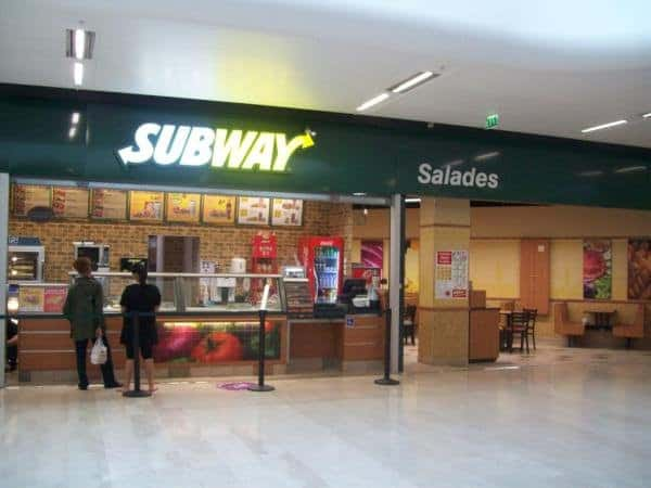 Subway au centre commercial O'Parinor