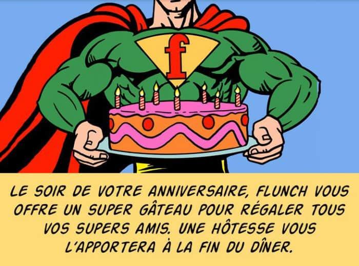 Super F pour votre anniversaire chez Flunch
