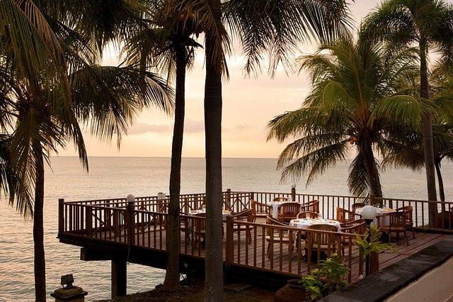 Restaurants au décor paradisiaque