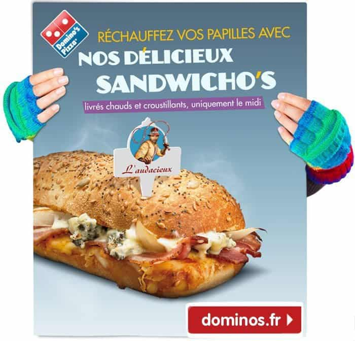 Affiche pour la promotion des Sandwicho's