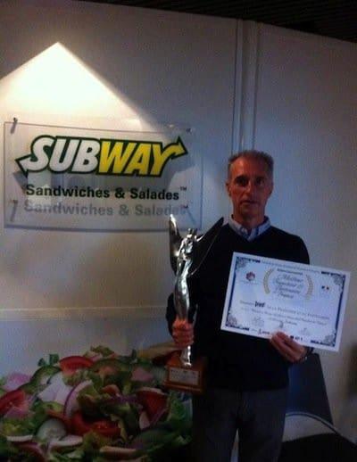 Trophée d'or pour Subway