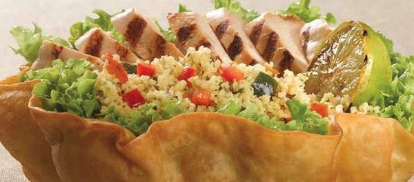 Salade taco poulet