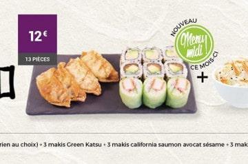 3 idées de menu pour le déjeuner chez Eat Sushi
