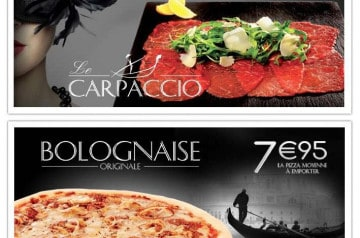 Bolognaise et Carpaccio La Boîte à Pizza