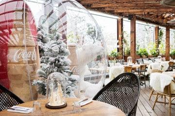 Brasserie Auteuil : son rooftop devient un chalet d'hiver