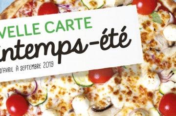 Carte printemps-été 2019 de La pizza de Nico