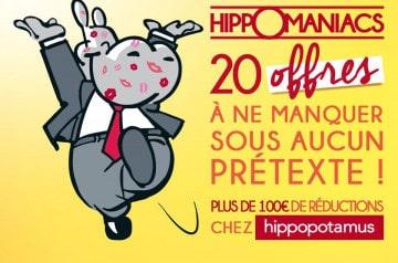Chéquier Hippomaniacs chez Hippopotamus