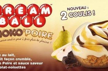 Cream ball choko-poire chez KFC