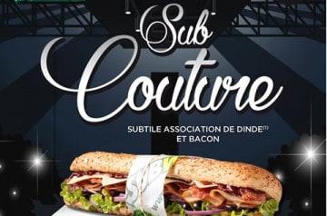 Dernier jour pour le Sub Couture chez Subway