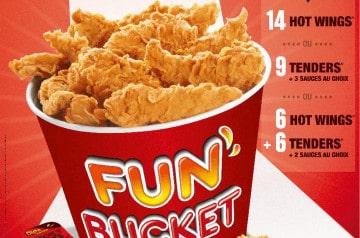 Des Buckets offerts chez KFC