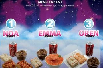 Des menus adaptés aux enfants chez Nina Sushi