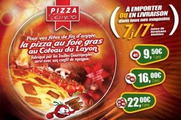 Des pizzas au menu de Noël avec Pizza Tempo