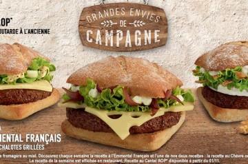 Des sandwichs d'inspiration campagnarde chez McDonald's