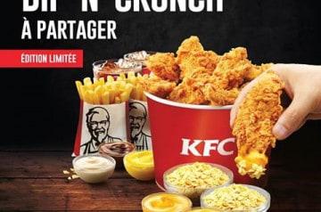 Dip'N'Crunch, à découvrir chez KFC jusqu'au 29 mai